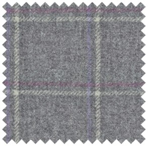 Wool Check Grey